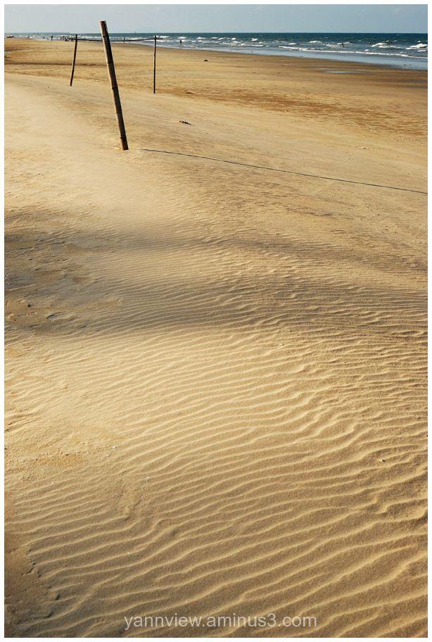 Sand beachl of Kuala Terengganu
