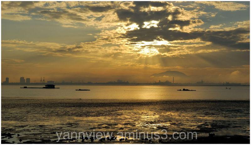 Sunrise along Coastal Highway, Penang