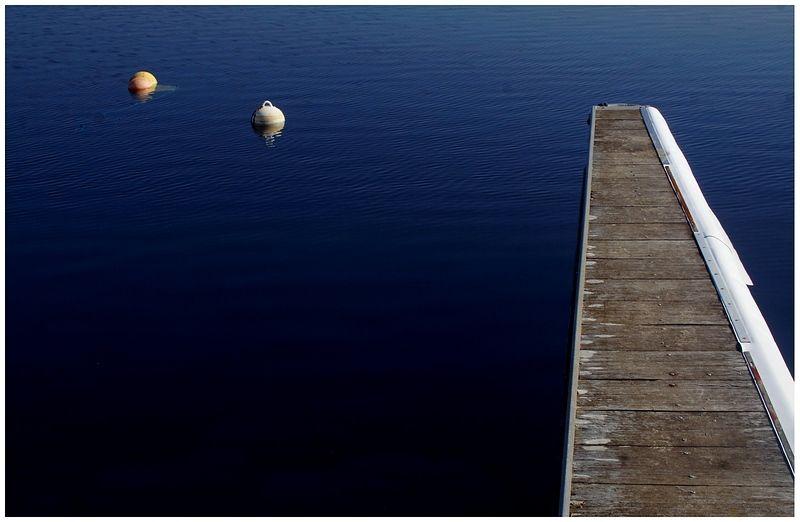 Ponton sur le lac de Sanguinet