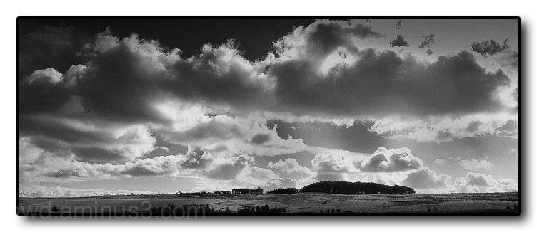 landscape clouds B&W
