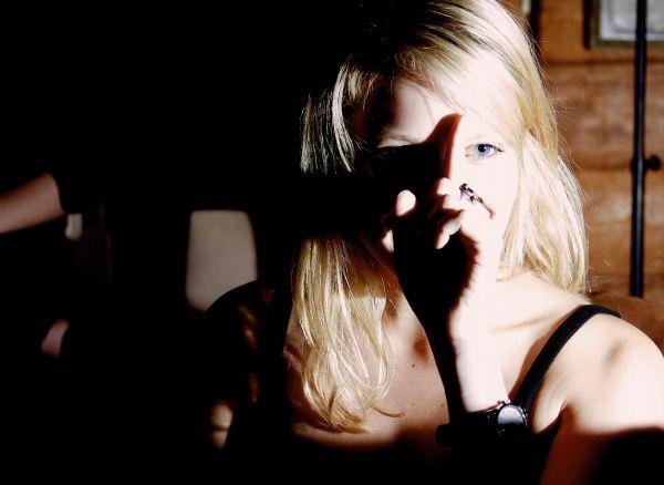 sinister blonde girl