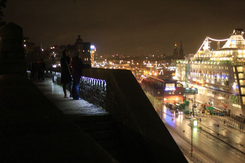 A view of Stockholm at night