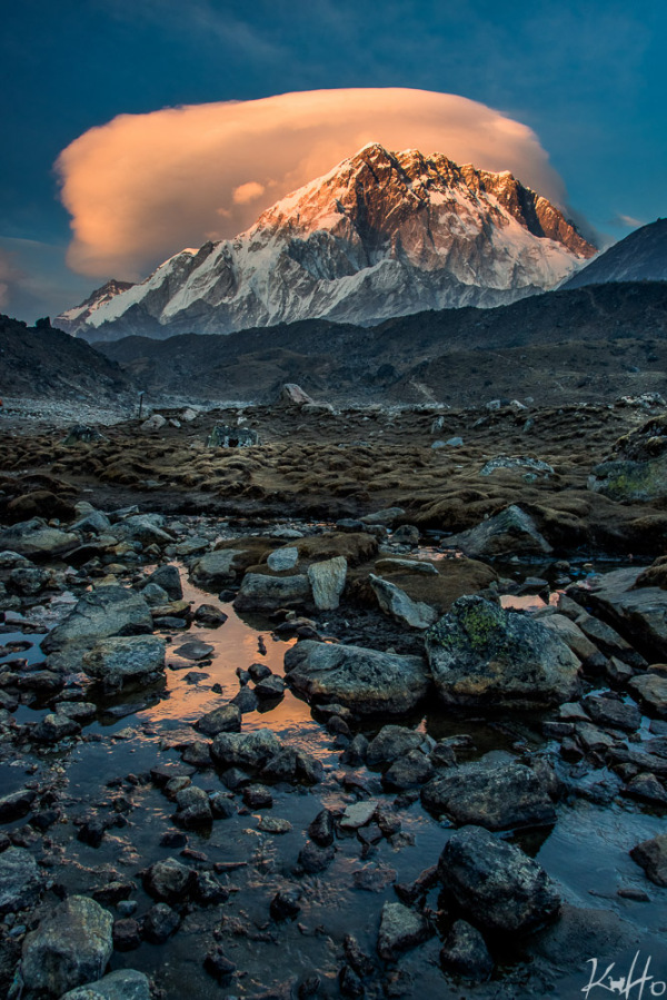 Sunset at Lobuche
