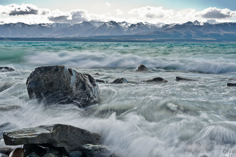 Waves and Rocks at Lake Pukaki
