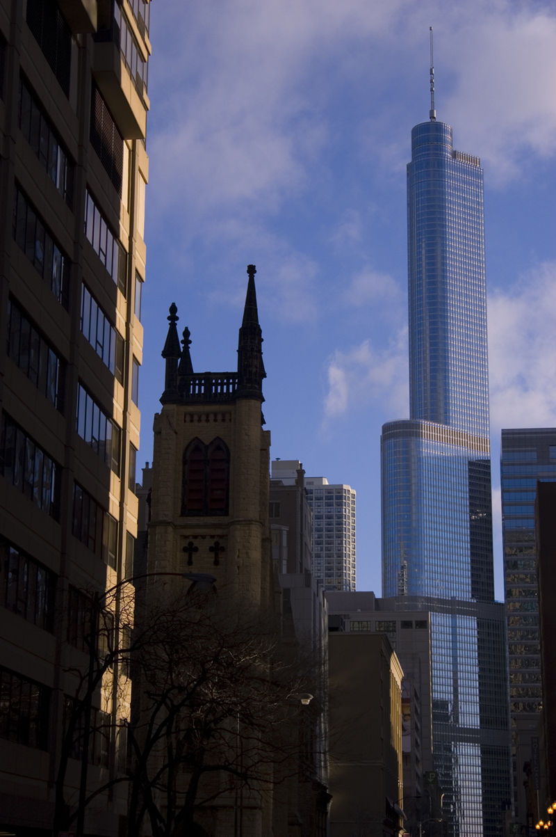 The Trump Tower vs. a cathedral