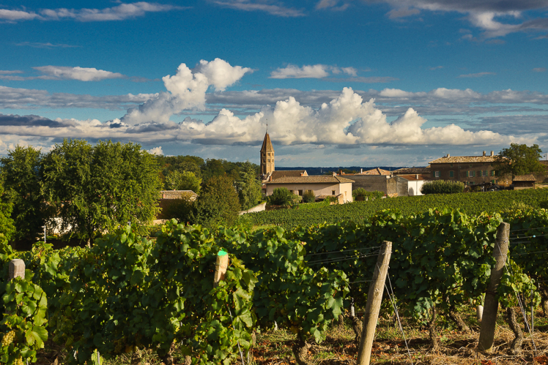 Village of Loché, South Burgundi , France. This is a famous place of winyards where is made white wines Pouilly Loché