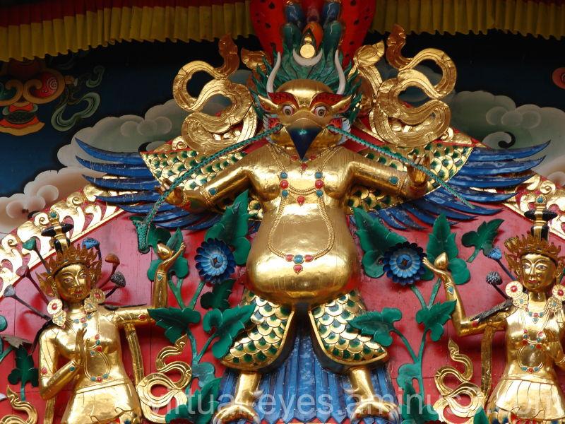 What i saw above Lord Buddha