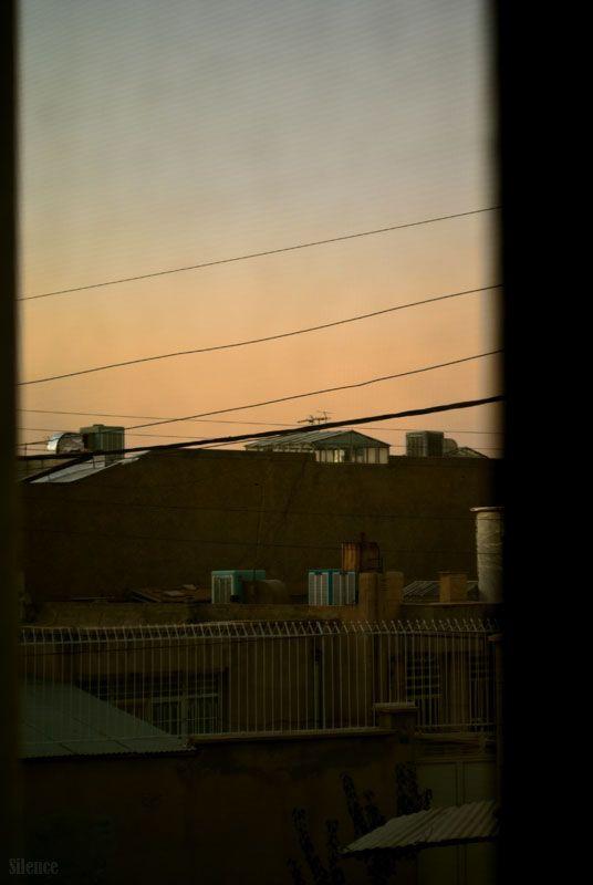 Sad Sunset In Autumn Window...