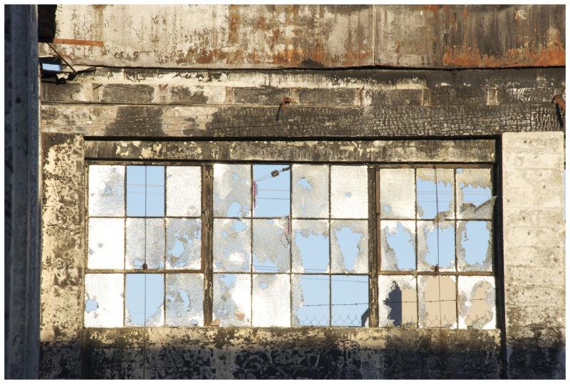 broken factory window