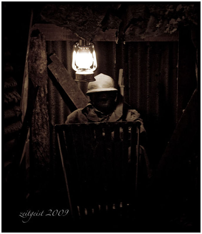 French Soldier in the Trenches