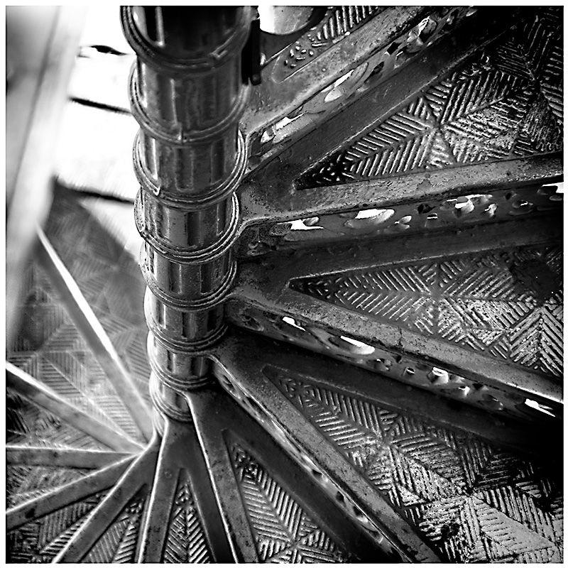 Stairs at Santa justa elevator, Lisbon