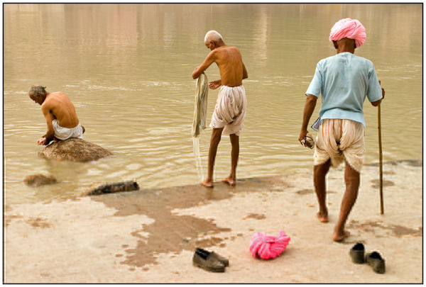 pilgrims in the Ganges