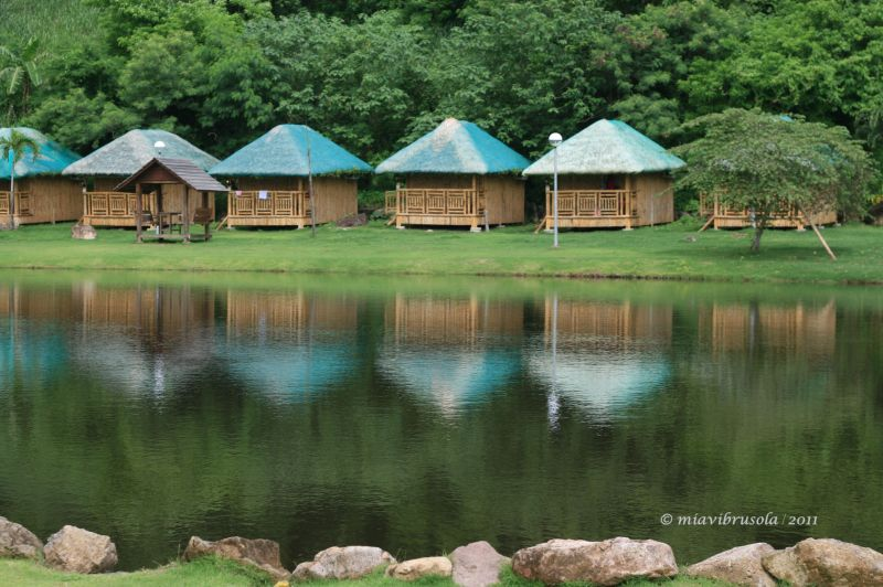 huts in the lake