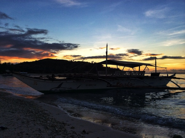 Early morning in an island in the Philippines