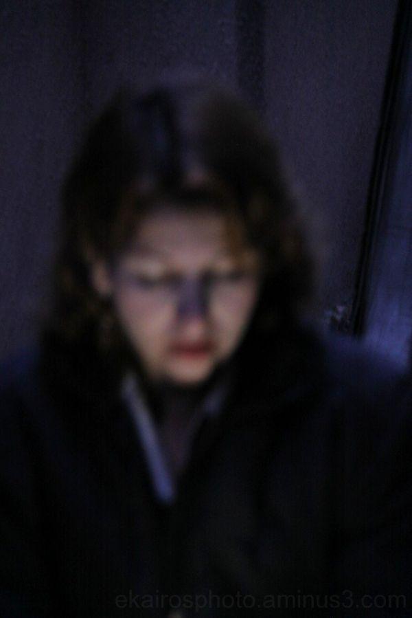 obdulia celular luz nocturna desnfocada