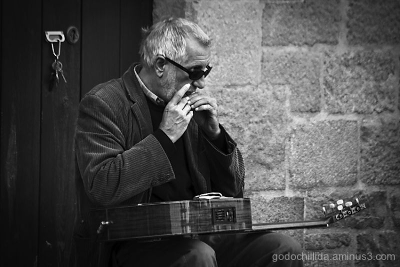 Blind, Guitar, musician, Barcelona