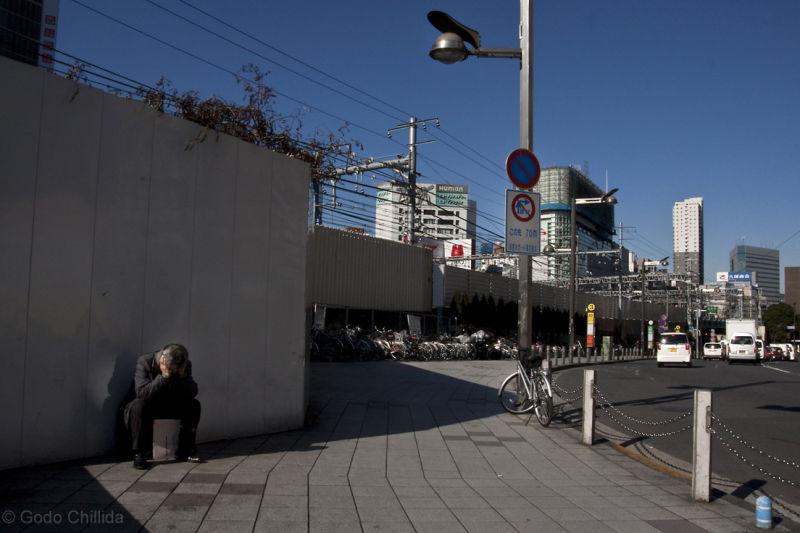 shinjuku, Tokyo, Japan, man, unemployed,