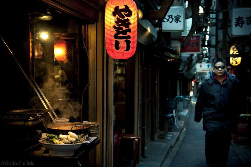 shinjuku street yakitori tokyo japan