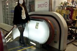 Ueno, Tokyo, Japan, Woman, Shopping, scalator,
