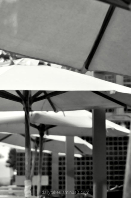abstract umbrellas