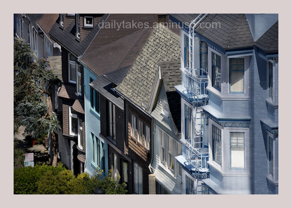 row houses on J street ....