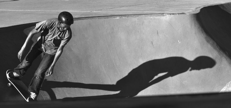 shadowplay : skateboarder
