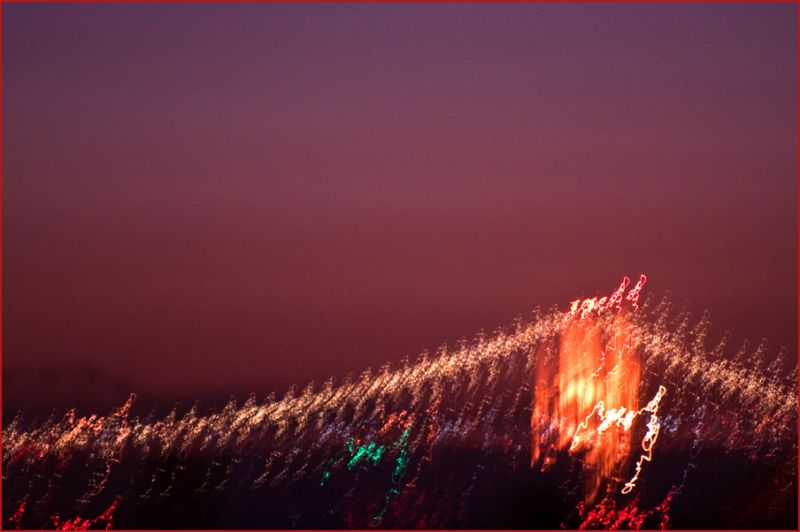 bridge at night : dancing light