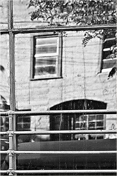 reflection through a dirty window . . .