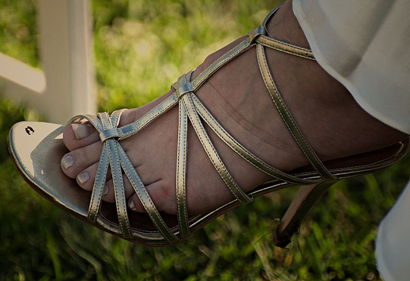 wedding party:  the bridal sandal