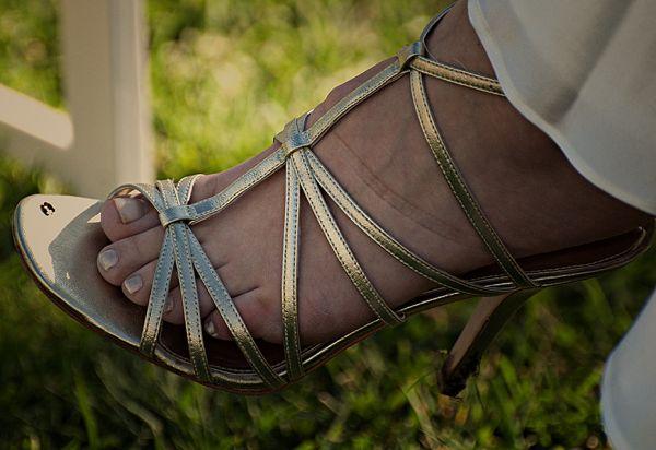 wedding party:  the bridal sandal