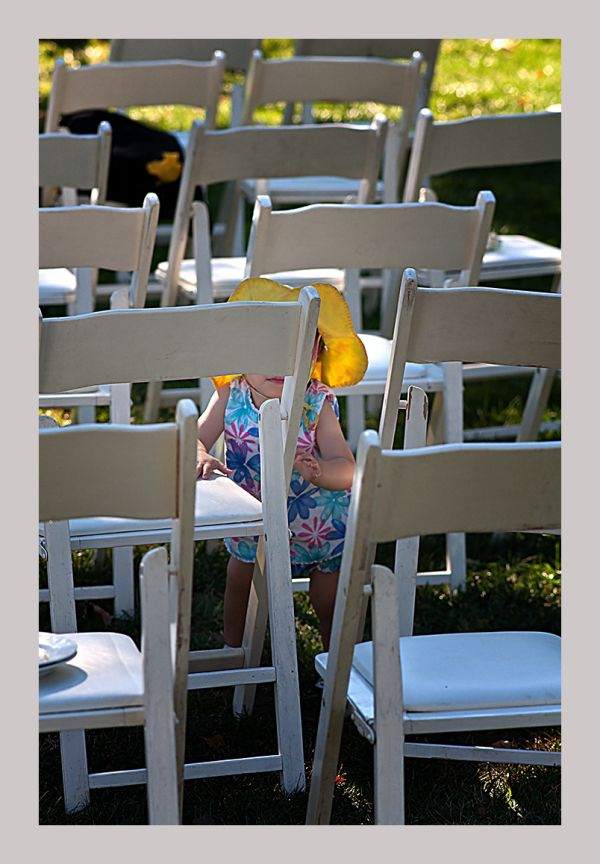 wedding guest: squeezing through the chairs