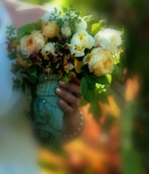 the bridal bouquet . . .