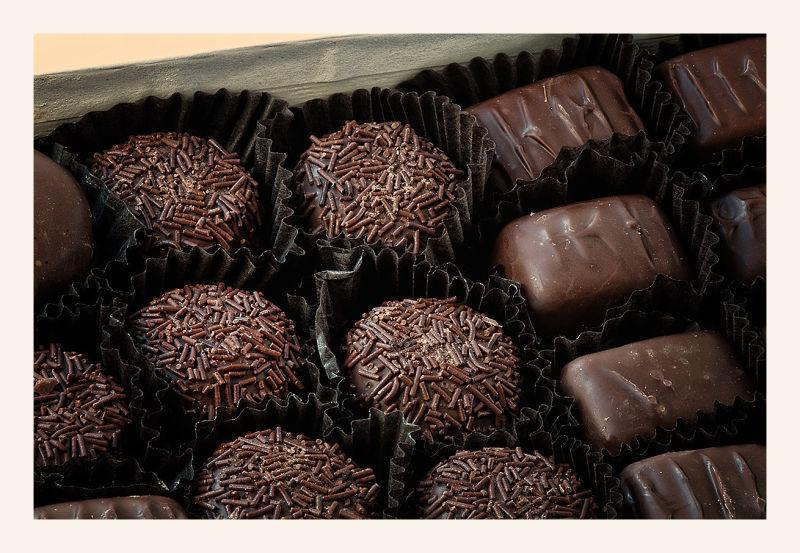 the chocolate box  . . .