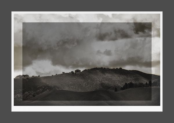 storm brewing over the foothills  . . .