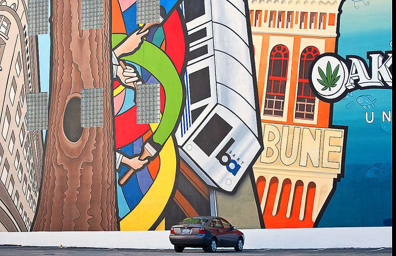downtown Oakland parking lot   . . .