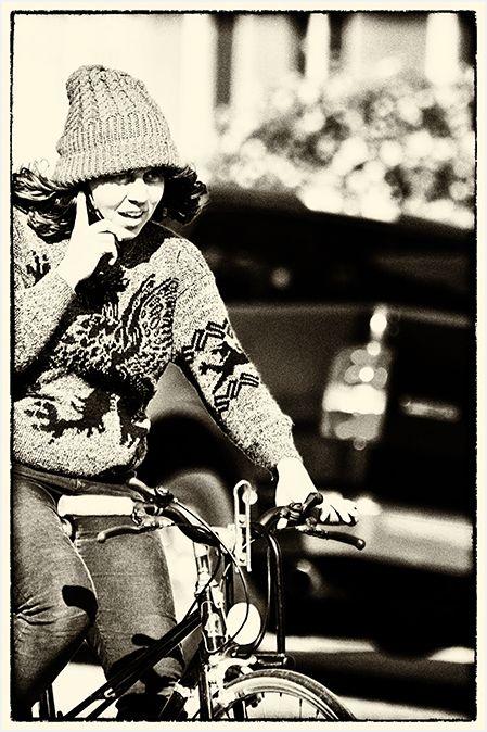 biking and talking   . . .