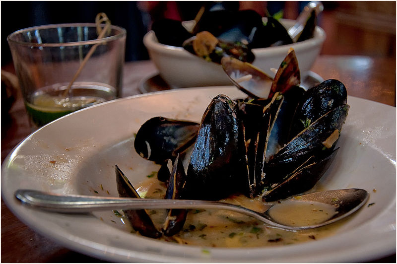 mussels : afterwards  . . .
