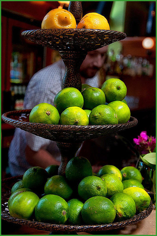 still life with limes   . . .