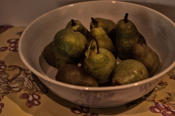 bowl of pears   . . .