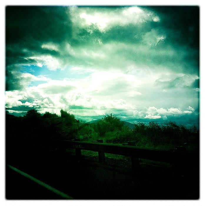 stormy skies   . . .
