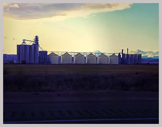 silos at sundown   . . .