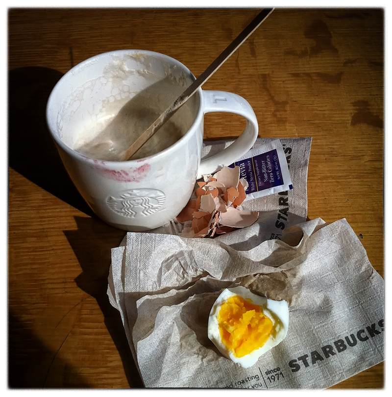 breakfast at starbucks   . . .