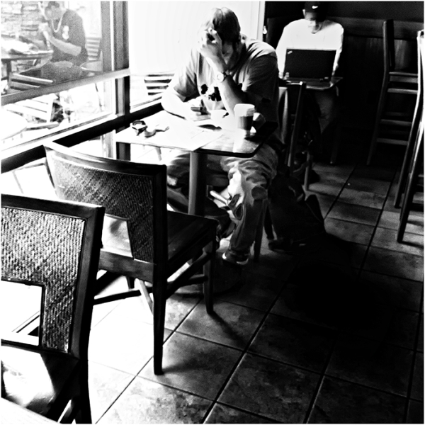 the coffee house scene   . . .