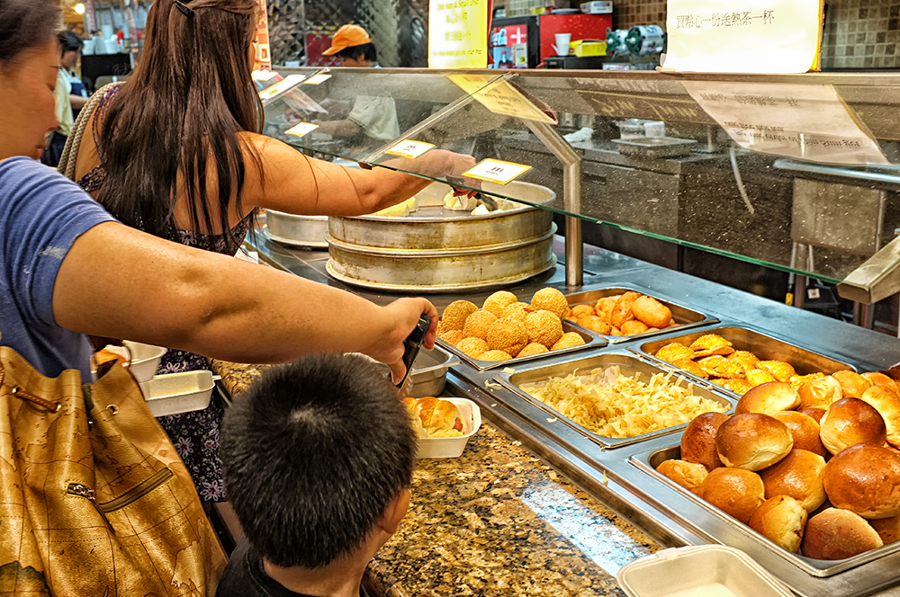 self-service at the asian market  . . .