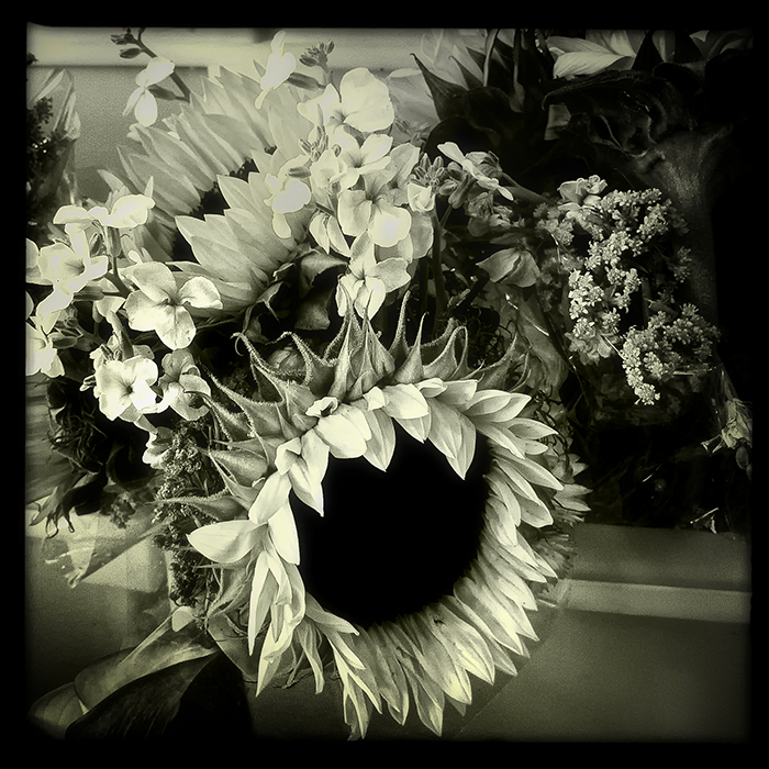 bouquet with sunflowers   . . .