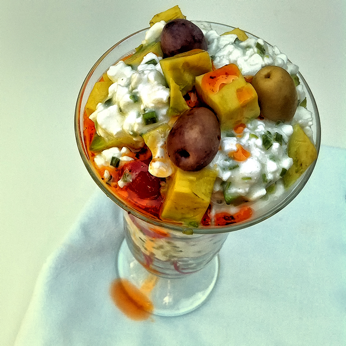 cottage cheese parfait