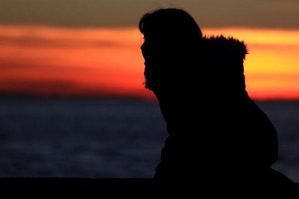 ombre profil soleil coucher