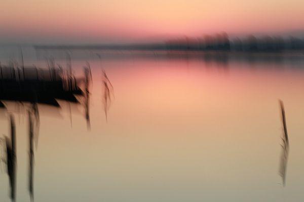 Coucher de soleil sur les étangs