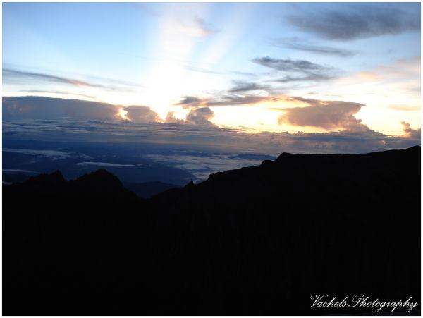 sunrise at the summit of Mt. Kinabalu