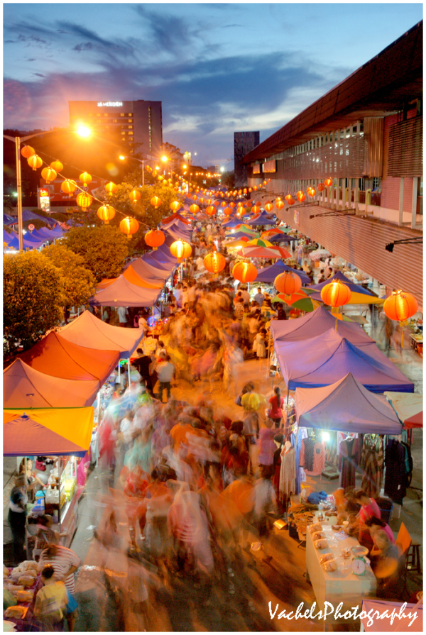 Night Market before Chinese New Year Eve